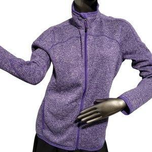 Champion Purple Sweater Fleece Jacket Large
